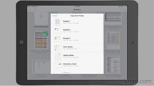 Importing a spreadsheet: iWork for iPad Essential Training