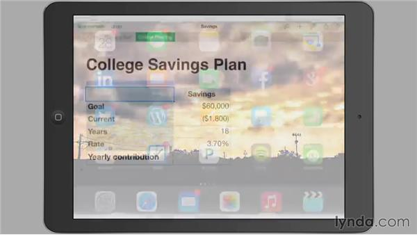 Using an external keyboard: iWork for iPad Essential Training