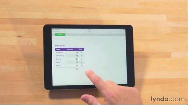 Adding a formula: iWork for iPad Essential Training
