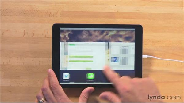 Opening a document in another app: iWork for iPad Essential Training