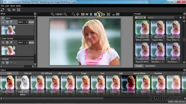 Color correcting photos: Up and Running with Tiffen Dfx