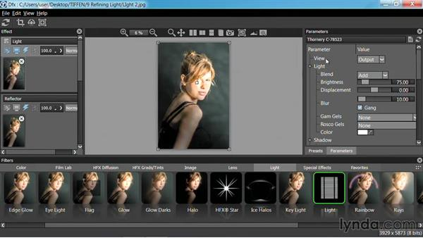 Lighting backgrounds: Up and Running with Tiffen Dfx