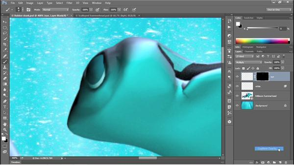341 Integrating 3D art into a 2D scene in Photoshop: Deke's Techniques