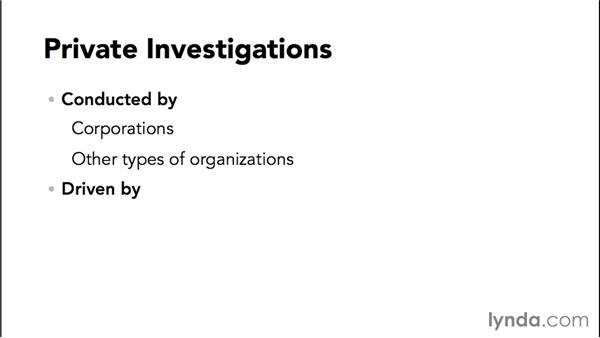 Types of computer forensics investigations: Computer Forensics Essential Training
