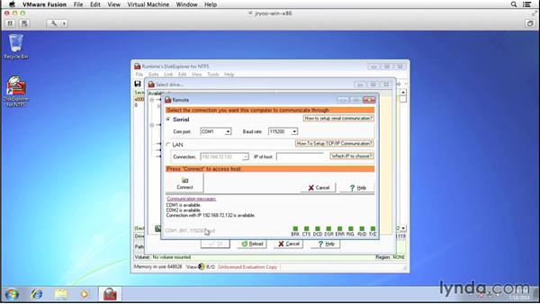 Remote acquisition with a commercial tool: Computer Forensics Essential Training