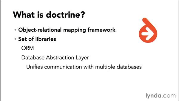Introducing the Doctrine 2 object-relational mapper: Up and Running with Symfony2 for PHP