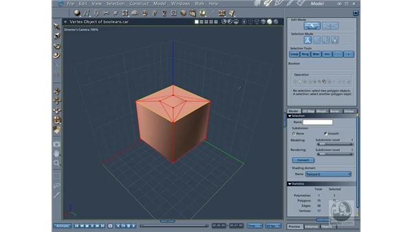 Using booleans and the Cut tool: Carrara 5 Essential Training