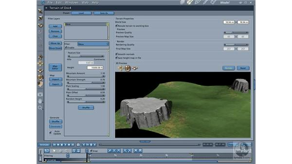 Introduction to terrain objects: Carrara 5 Essential Training