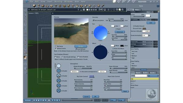 Creating realistic skies: Carrara 5 Essential Training