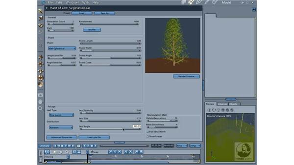Creating plants: Carrara 5 Essential Training