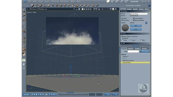 Adding volumetric clouds: Carrara 5 Essential Training