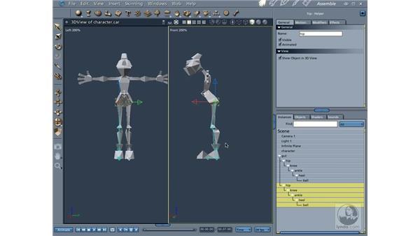 Adding bones: Carrara 5 Essential Training