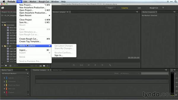 Overview of integration with Prelude and other Creative Cloud software: Premiere Pro Guru: Working with Prelude