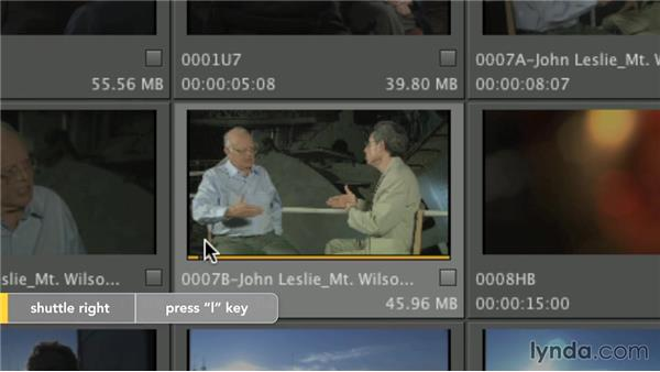 Previewing clips: Premiere Pro Guru: Working with Prelude
