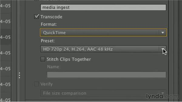 Transferring and transcoding clips: Premiere Pro Guru: Working with Prelude