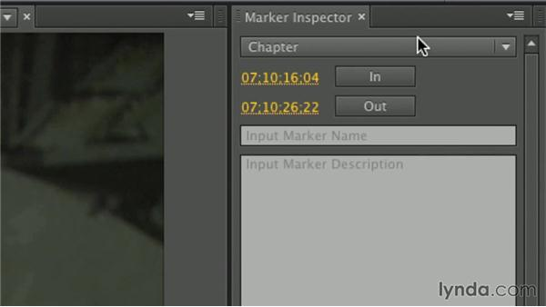 Other types of markers: Premiere Pro Guru: Working with Prelude