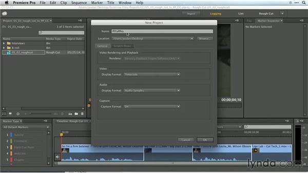 Sending a rough cut to Premiere Pro: Premiere Pro Guru: Working with Prelude
