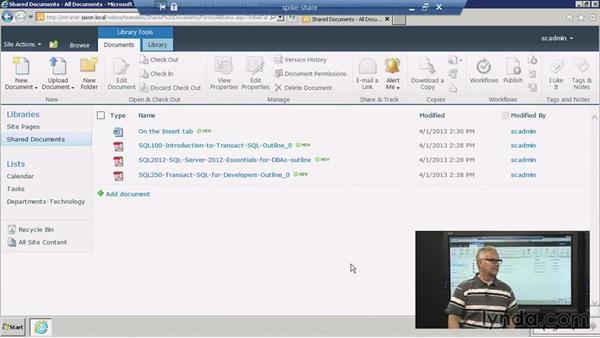 Using a team site: SharePoint 2010: Foundation and Server