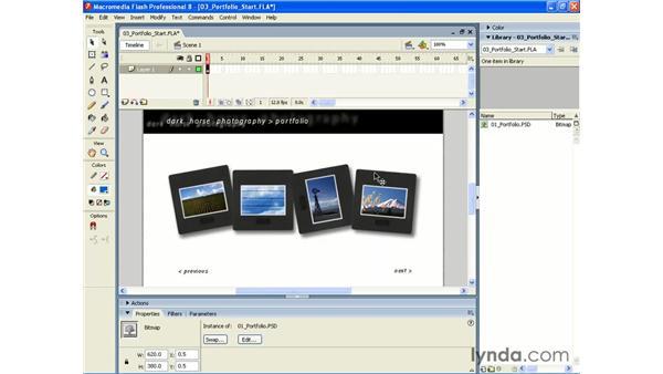 Basic layered PSD importing into Flash 8: Photoshop CS2 and Flash 8 Integration