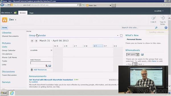Creating and configuring a group work site: SharePoint 2010: Foundation and Server