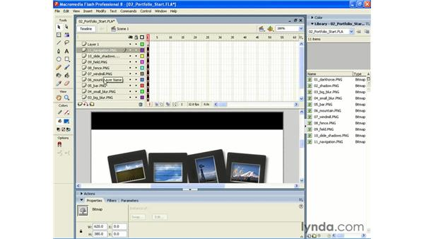 Importing sequential PNGs into Flash 8: Photoshop CS2 and Flash 8 Integration