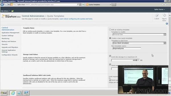 Implement: Creating the quota: SharePoint 2010: Foundation and Server