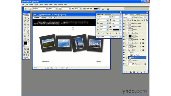 Dealing with Type: Photoshop CS2 and Flash 8 Integration