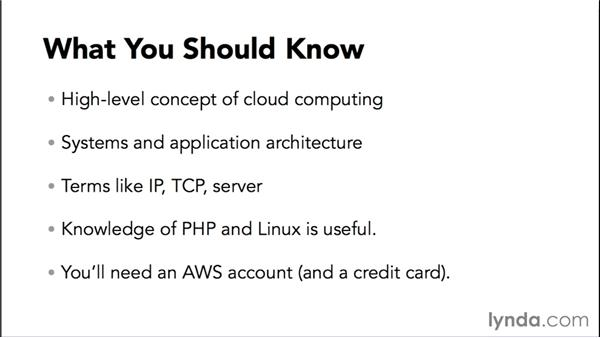 What you should know: Amazon Web Services Essential Training