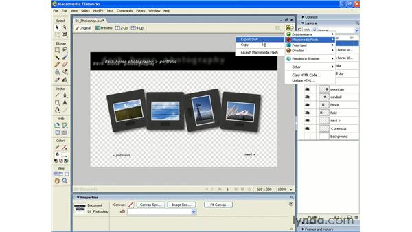 PSD to Fireworks to Flash 8: Photoshop CS2 and Flash 8 Integration