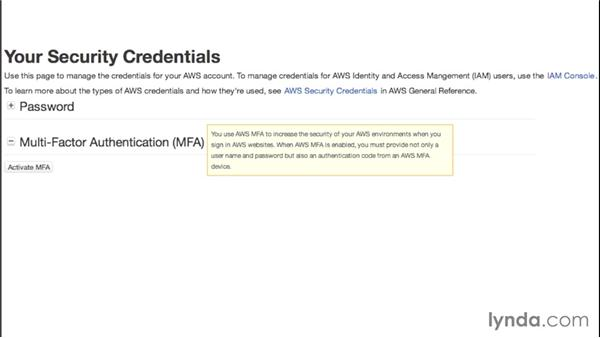 Signing up for AWS: Amazon Web Services Essential Training