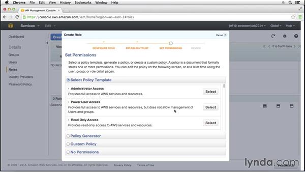 Launching an instance in an IAM role: Amazon Web Services Essential Training