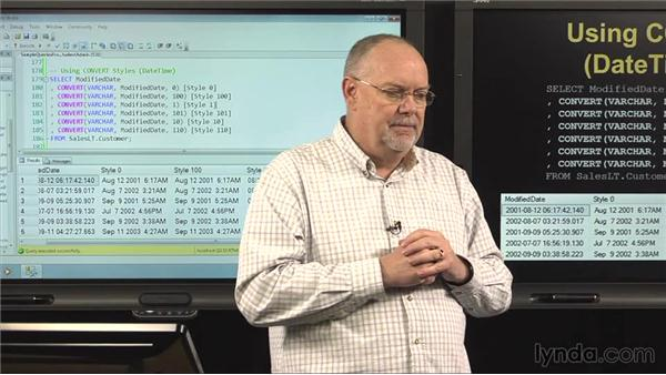 Manipulating numbers and data types: Introduction to Transact-SQL