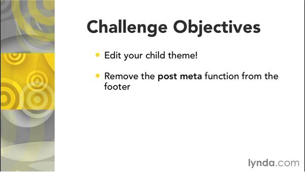 Challenge: Edit your child theme: Customizing Themes with Genesis for WordPress