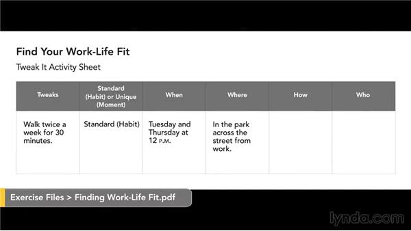 Clarify the type of formal work flexibility you want: Finding Work-Life Fit