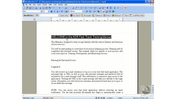 Formatting text: WordPerfect Office X3 Essential Training