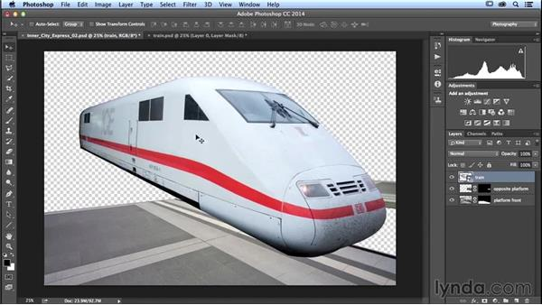 Vector masking the train: Photoshop Artist in Action: Uli Staiger's Inner City Express