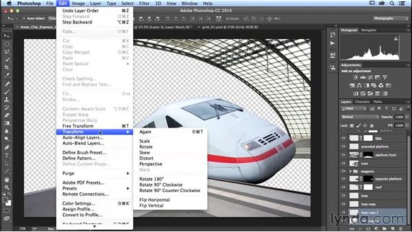Bending a grid: Photoshop Artist in Action: Uli Staiger's Inner City Express