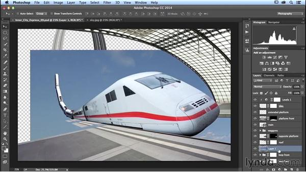 Adding a sky: Photoshop Artist in Action: Uli Staiger's Inner City Express