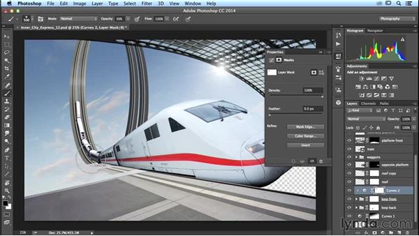 Adding reflections: Photoshop Artist in Action: Uli Staiger's Inner City Express