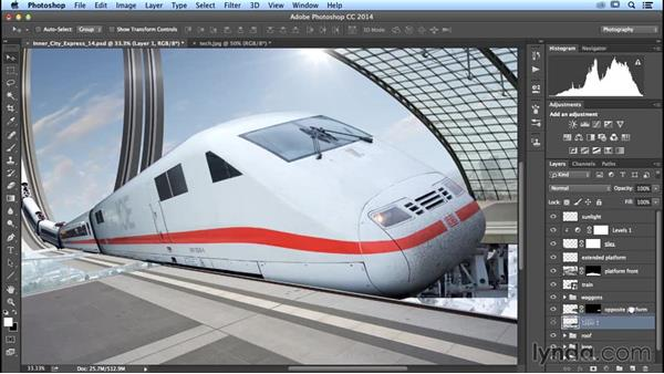 Adding technical elements to the platform: Photoshop Artist in Action: Uli Staiger's Inner City Express