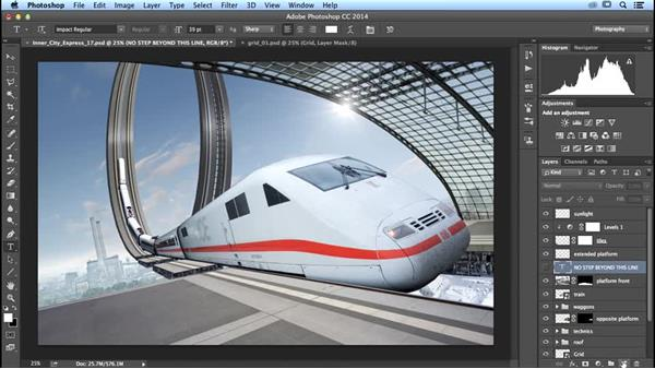 Adding text to the platform: Photoshop Artist in Action: Uli Staiger's Inner City Express
