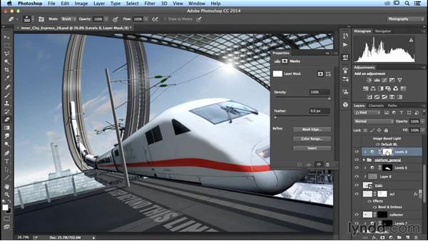 Creating a shadow on the platform: Photoshop Artist in Action: Uli Staiger's Inner City Express