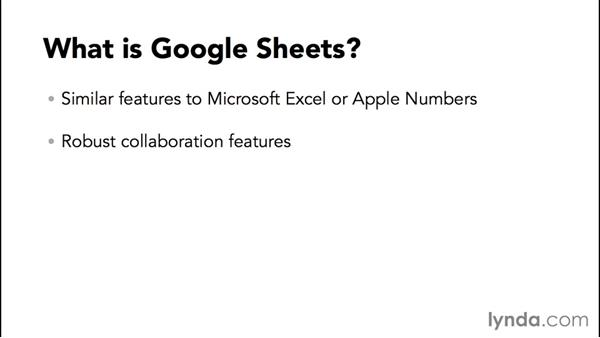 What is Google Sheets?: Google Sheets Essential Training
