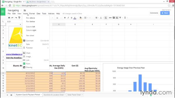 Navigating Google Sheets: Google Sheets Essential Training
