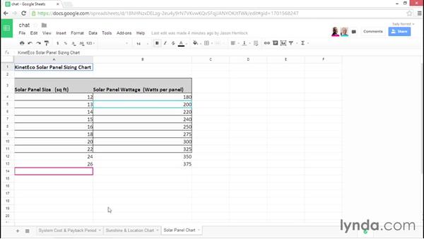 Collaborating simultaneously and using Google Chat: Google Sheets Essential Training