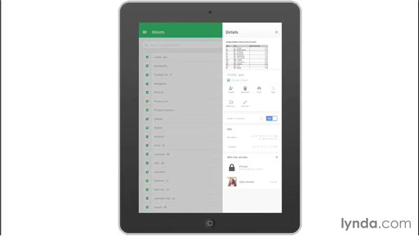 Navigating the Google Sheets mobile app: Google Sheets Essential Training
