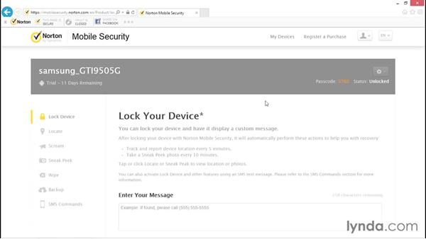 Overview of Norton Mobile Security: Norton Internet Security Essential Training