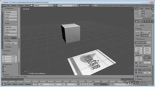 Modeling to reference: Product Shots in Blender