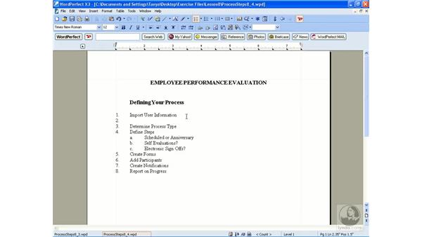 Editing a numbered list: WordPerfect Office X3 Essential Training