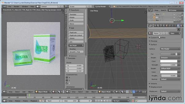 Adding secondary lights: Product Shots in Blender
